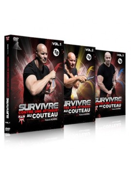 3 DVD set - Surviving a knife attack