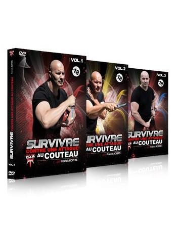 """Coffret 3 DVD """"Survivre contre une attaque au couteau"""""""