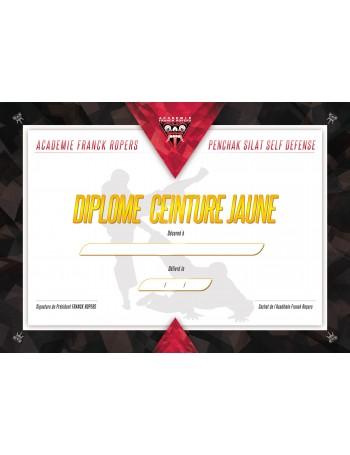 DIPLÔME CEINTURE JAUNE AFR