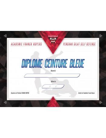 DIPLÔME CEINTURE BLEUE AFR